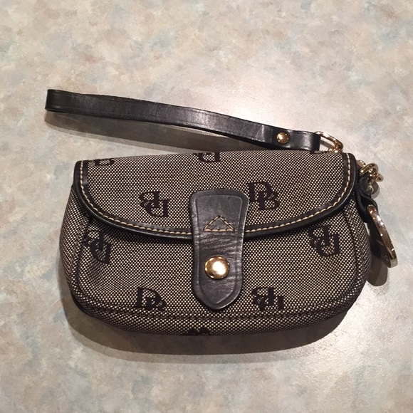 Dooney & Bourke Handbags - Dooney & Bourke black and grey wristlet.